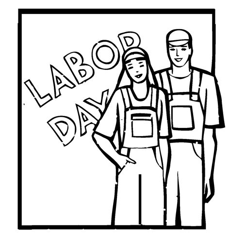 Labor Day Coloring Pages Holidays And Observances