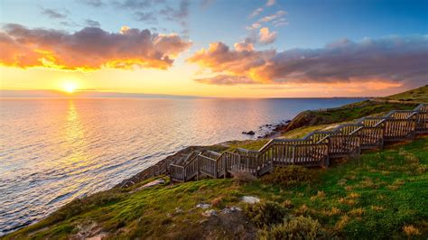 hallett cove park boardwalk  sunset south australia