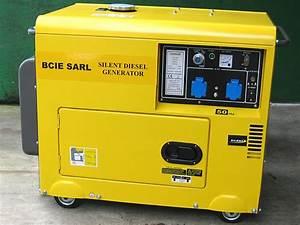 Generateur silencieux 5 5kva, 2 x 230v,