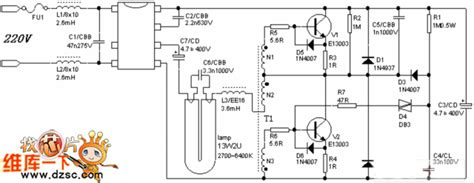 The Electric Energy Saving Lamp Circuit Power Supply
