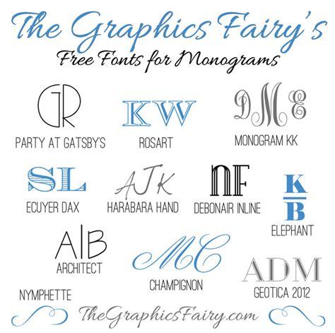 favorite  fonts  creating monograms  graphics fairy