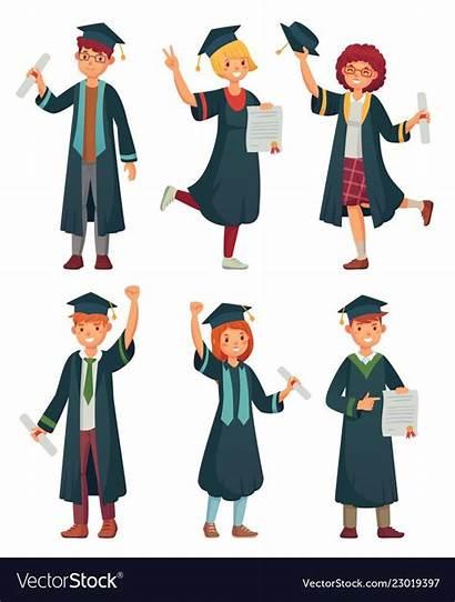 College Student Vector Students Graduation Graduates Graduate