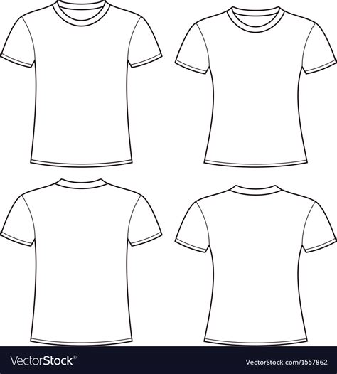 Tshirt Design Template Png by Blank T Shirts Template Royalty Free Vector Image