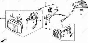 Honda Motorcycle 1990 Oem Parts Diagram For Headlight Unit