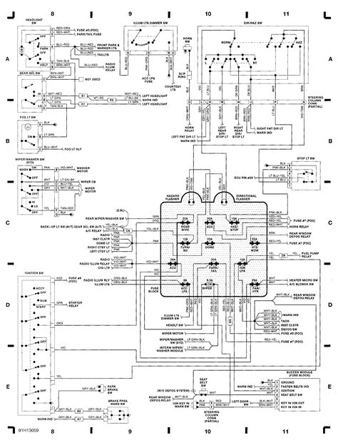 91 jeep wrangler wiring diagram volovets info