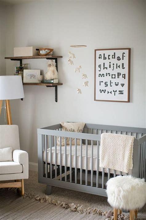 stylish pale grey wood and white unisex nursery inspiration