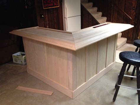 Bar Plans by Unfinished Home Oak Bar With Slats Bar In 2019 Bars