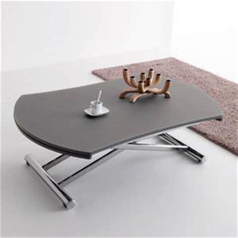 bureau alinea verre table basse transformable en table ronde par cuir design