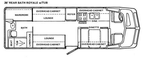 Gmc Motorhome Royale Floor Plans by Gmc Royale By Coachmen