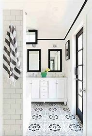 White Moroccan Floor Tiles Bathroom