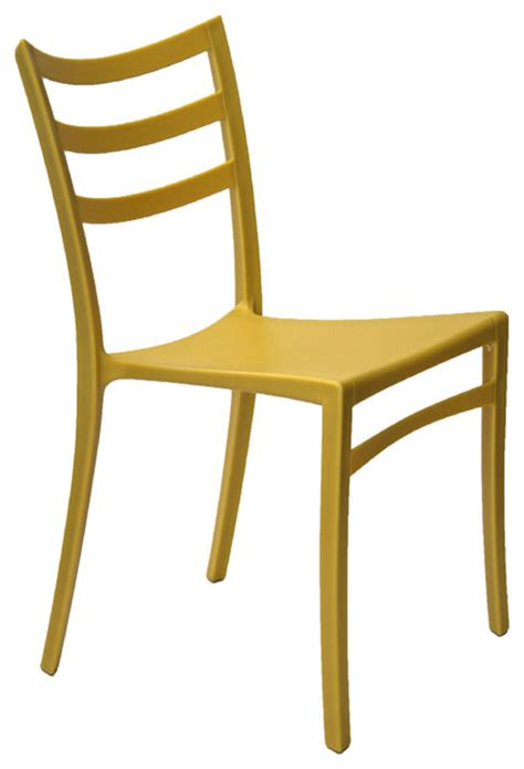 stackable modern chair yellow contemporary outdoor
