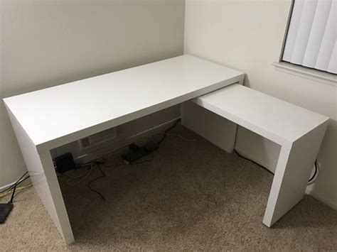 ikea malm pull out desk white ikea malm desk with pull out panel white furniture in
