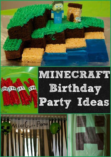 minecraft birthday party ideas mom luck