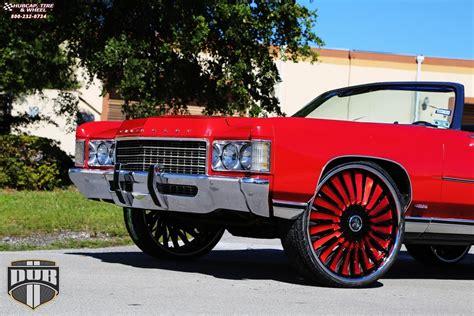 Chevrolet Impala Dub S717-turbine Wheels Black W/ Red Accents