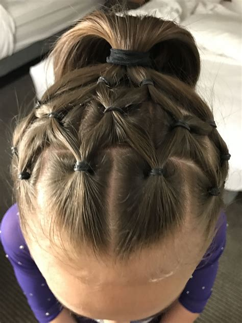 pin by angelica robinson on gymnastics hair in 2019