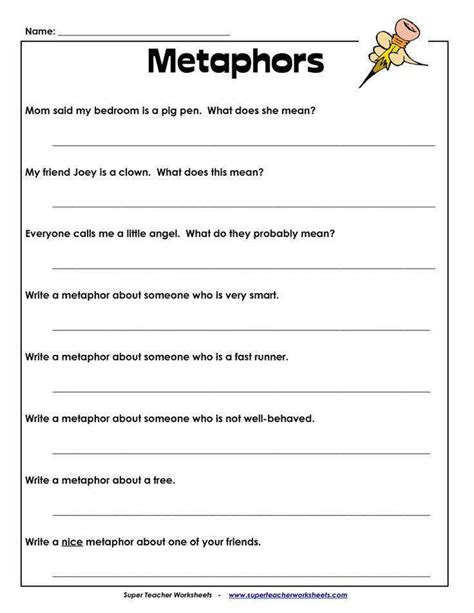 what is a metaphor math worksheet homeschooldressage com