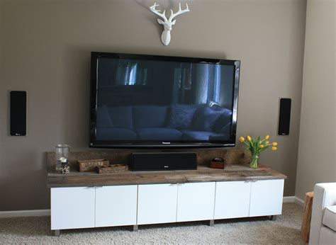 using kitchen cabinets for entertainment center diy entertainment center using ikea cabinets home 9575
