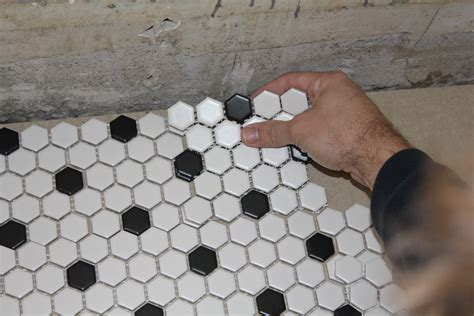 hex tile flooring diy alyssamyers