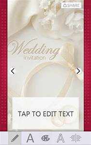 Wedding invitations card maker for android free download for Wedding invitation maker program