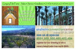 gregory palm farms anaheim home and garden show gregory