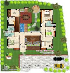 eco floor plans eco single floor kerala villa house design plans
