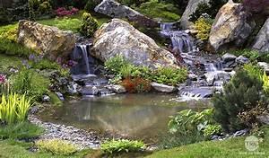 amenagement du bassin de jardin jardinerie truffaut With plan de petite maison 10 installer une fontaine en pierre dans son jardin
