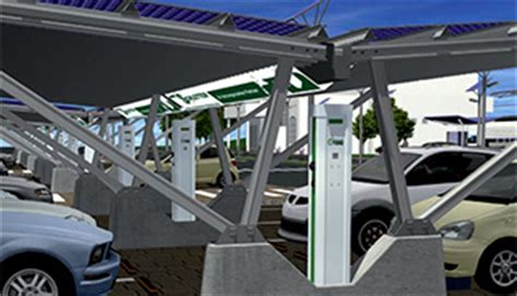 Solar Panel Carport Mounts  Solar Car Charging Stations