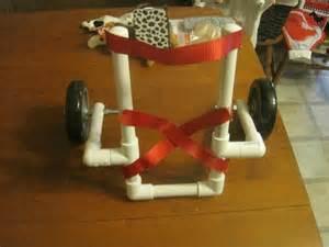 DIY PVC Dog Wheelchair