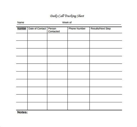 tracking sheet template word call sheet template 23 free word pdf documents