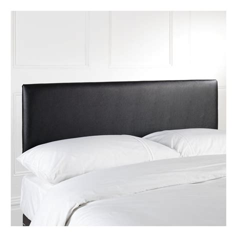 black leather headboard single myshop