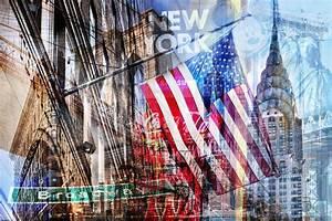 New York Leinwand : fotocollage new york im pop art design auf leinwand und auf acryl ~ Markanthonyermac.com Haus und Dekorationen