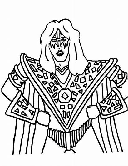 Coloring Kiss Band Pages Drawing Stanley Printable