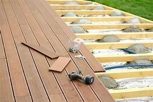 methode pour bien construire une terrasse en bois With comment poser une terrasse bois