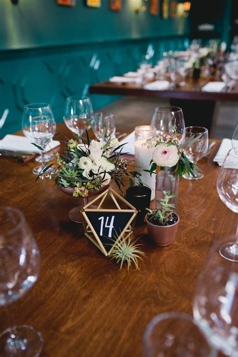geometric chalk table numbers wedding party ideas