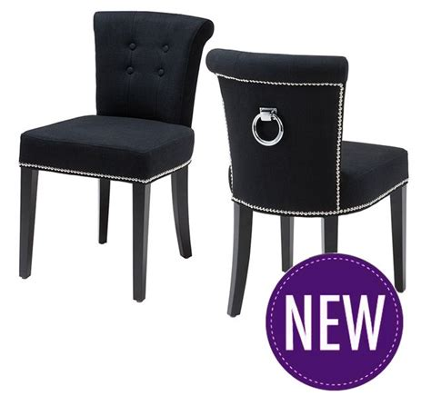 black upholstered key largo luxury upholstered dining chair from eichholtz