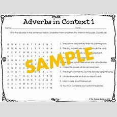 Parts Of Speech Word Searches Set 5 Adverbs By The Peanut Gallery