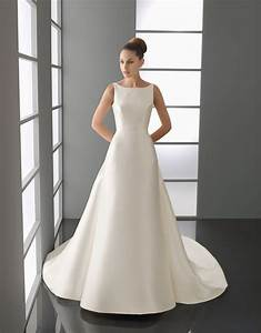 new bridal collection 2015 elegant white square neckline With simple and elegant wedding gown