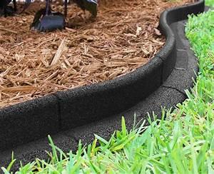 Ecoborder, Black, Rubber, 4, Ft, X, 3, In, No, Dig, Landscape, Garden, Edging, -, Walmart, Com