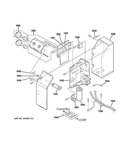 parts diagram parts list for ajes10dccm3 ge parts room air conditioner parts