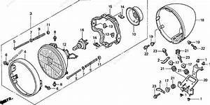 Honda Motorcycle 1998 Oem Parts Diagram For Headlight