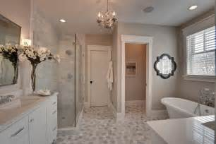 Leg Tub Faucets by Carrara Bathroom Bathroom Traditional With Gray Counter