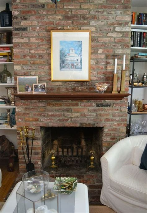 paint ideas for living room with brick fireplace painted brick fireplace white hometalk