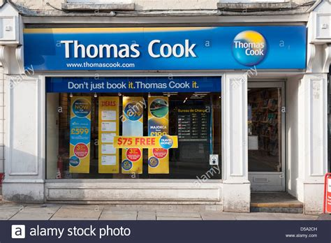 The Thomas Cook Travel Agent shop in Colchester UK Stock ...