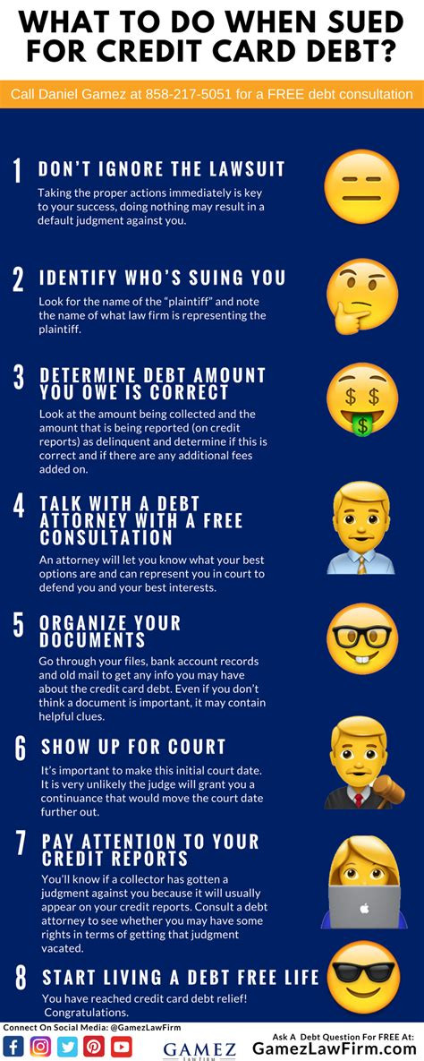 Credit card companies have the option to sue you in court to try to collect on the debt. HOW TO NEGOTIATE CREDIT CARD DEBT IF YOU ARE BEING SUED