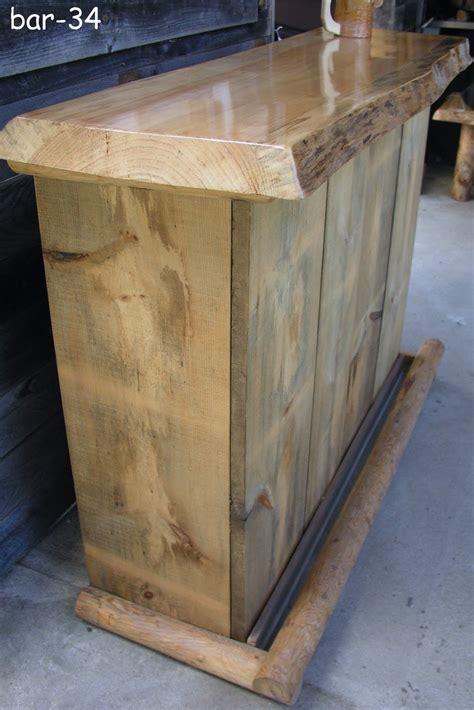 rustic rustic pine bar