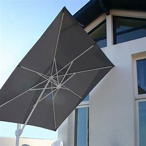 Toile Pour Parasol Déporté : parasol aluminium centr ou d port haut de gamme qualit fran aise ~ Teatrodelosmanantiales.com Idées de Décoration