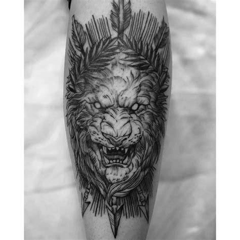 lion lioness tattoo ideas designs authoritytattoo