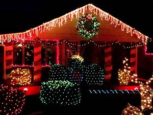 Christmas, Lights, Decorating, House, Picture