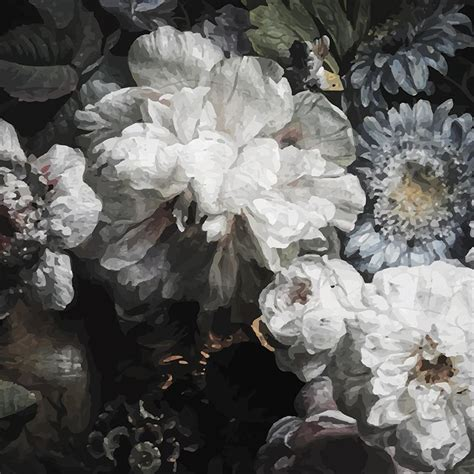 anewall peony modern classic dark floral wallpaper kathy