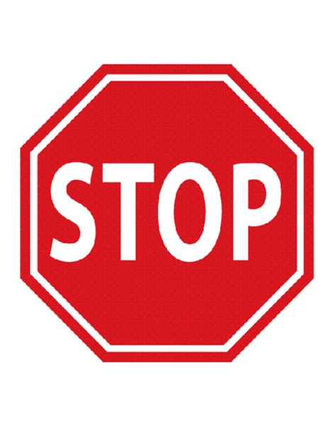 stop sign template stop traffic sign template education world